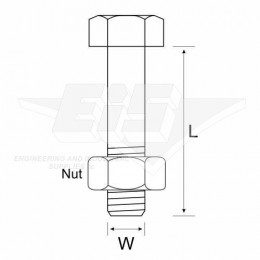Hot Dipped Bolts&Nuts  24X90