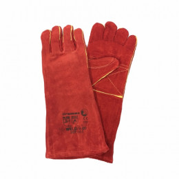 Dromex H/Res Red Elb Leath Gloves