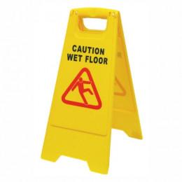 Sign Yellow Wet Floor
